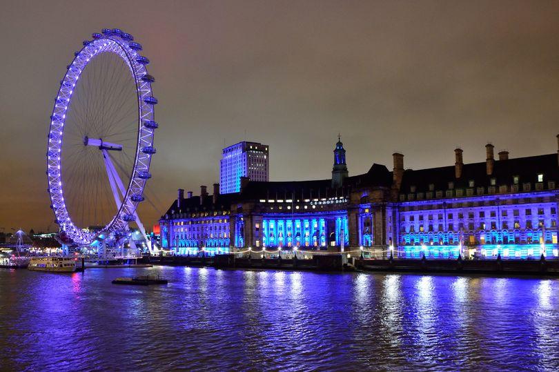 колесо обозрения Лондон