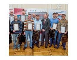 Во Дворце труда прошло чествование победителей конкурса профессионального мастерства среди рабочих «Строймастер-2015»