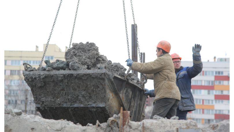 Рабочий забоя петербургского метрополитена