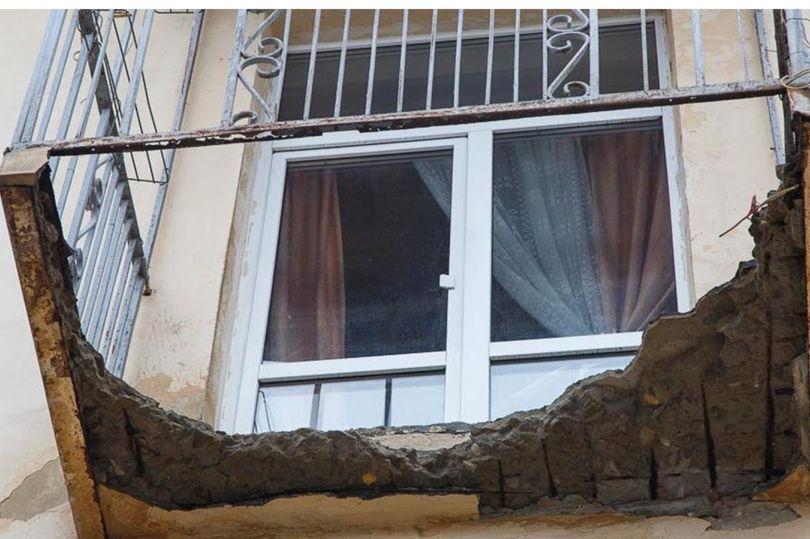 Обрушенный балкон