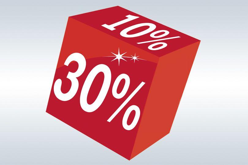 куб с процентами