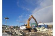 Демонтаж «Садового центра» на территории «МЕГА Белая дача»