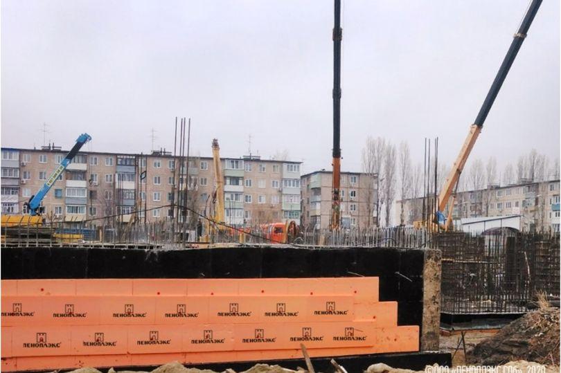 Теплоизоляция цоколя и первого этажа нового детского сада на 140 мест в г. Камышине Волгоградской обл. (8-й микрорайон д. 7)