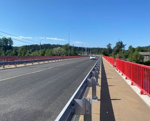 Под Выборгом открыто движение транспорта по новому мосту через Вуоксу на федеральной трассе
