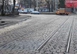 трамвайные пути в Калининграде