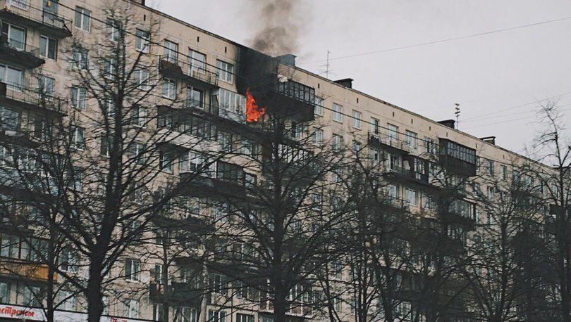 Пожар на Пискаревском проспекте