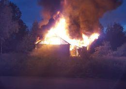 В Парголово сгорел дом