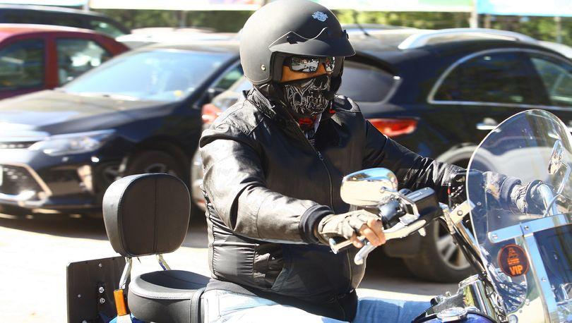 Дрозденко на мотоцикле