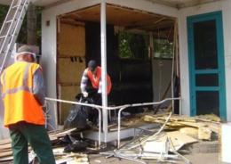 В Выборгском районе земельные участки освободили от незаконных строений