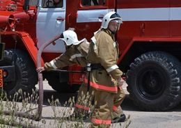 На территории завода им. Карла Либкнехта - пожар