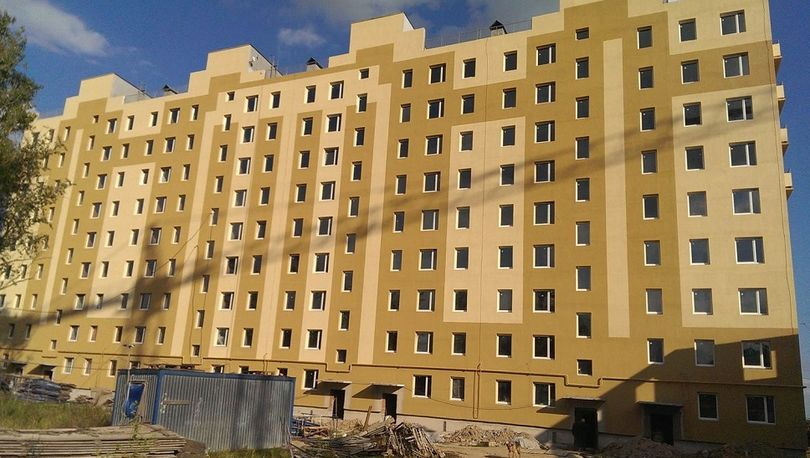 Завершены общестроительные работы 8 и 9 корпусов проблемного объекта «Ленсоветовский»