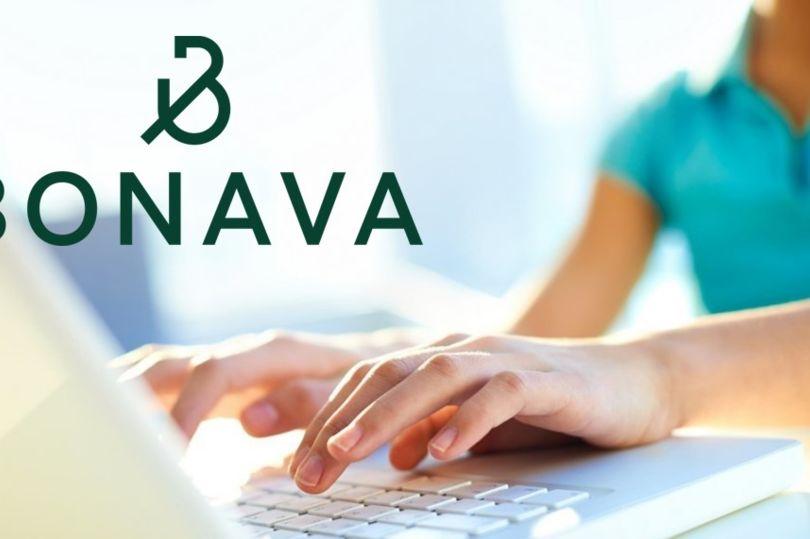 компьютер, логотип Бонава