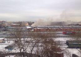 На Лиговском тушат серьезный пожар