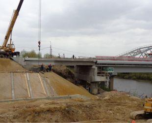 Строительная готовность нового Афанасьевского моста в г. Воскресенске Московской области составляет 90%