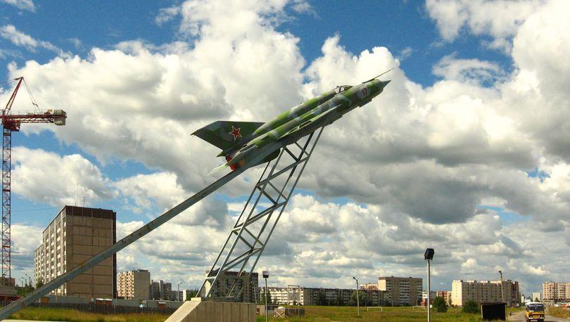 Модель военного самолета