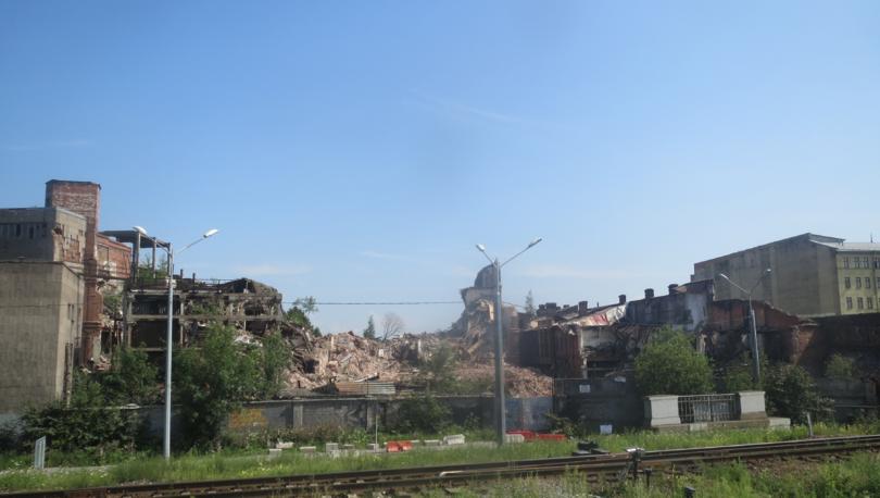 Снос заводских корпусов «Самсона» на Лиговском продолжается