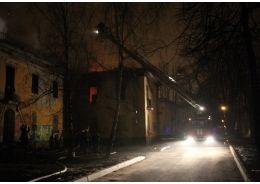 На улице Бабушкина горели два дома