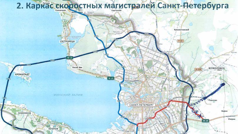 Восточный высокоскоростной диаметр планируется продлить доВсеволожска