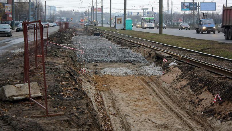 трамвайные пути реконструируют