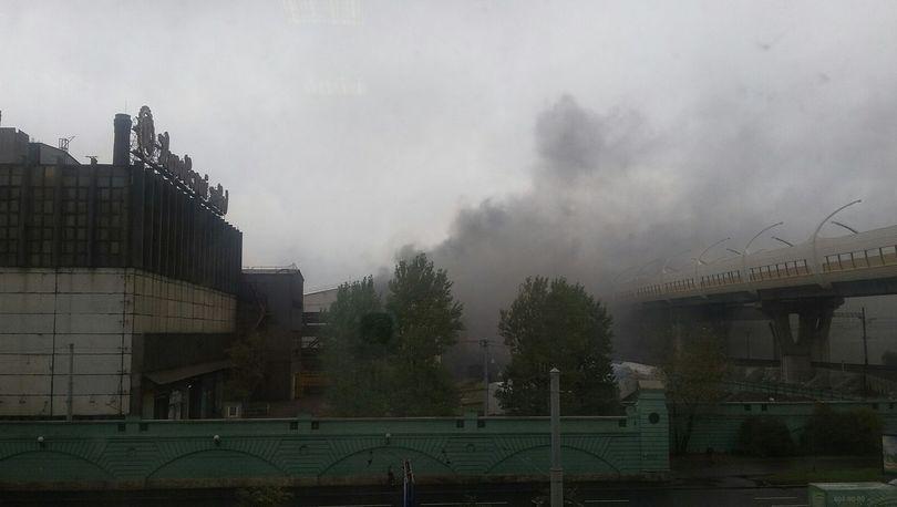 На Кировском заводе тушили  пожар