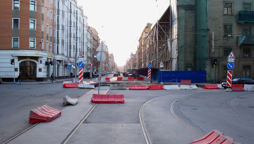 Ремонт улиц в Петербурге