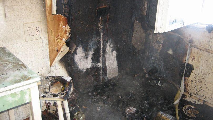 В  доме на Колокольной тушили пожар