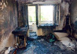 На улице Руднева горела квартира