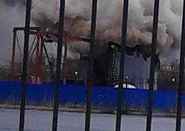 В Обухово - пожар в шахте метро