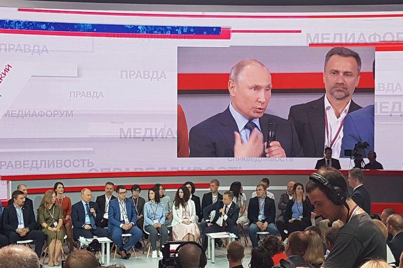 Путин на ОНФ