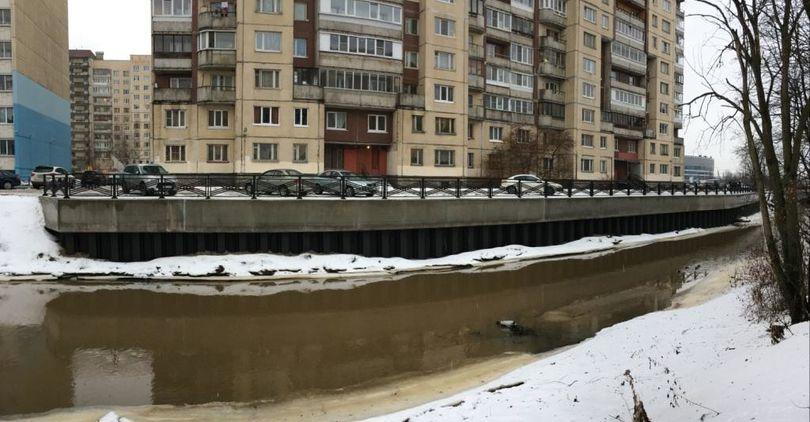 В Петербурге завершено берегоукрепление р. Оккервиль