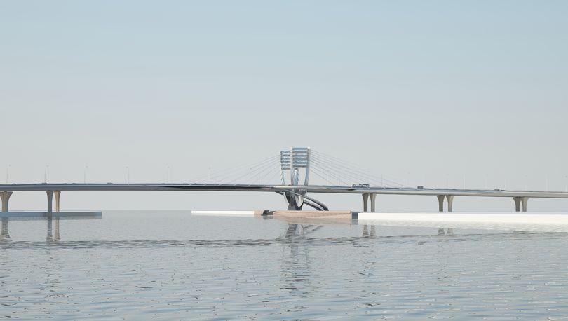 Мост через Малую Неву в Санкт-Петербурге