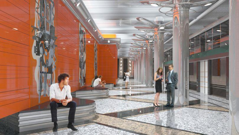 Проект интерьера станции метро «Беговая»