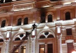 В Петербурге горела  гостиница «Октябрьская»