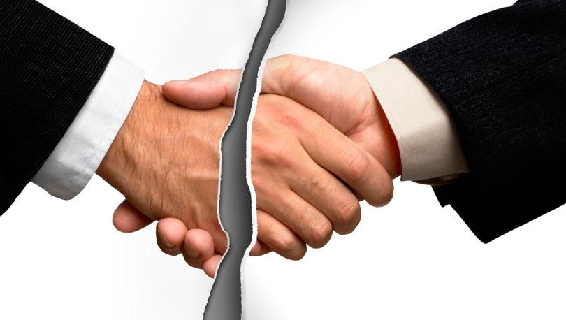 разрыв соглашения