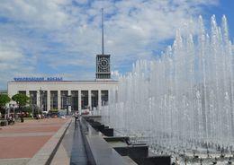 У Финляндского вокзала возобновляют работы фонтаны