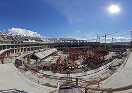 Делегация FIFA проинспектировала стройку на Крестовском острове