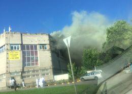 В Петербурге горел завод по производству икры
