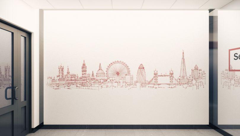 нарисован лондон