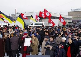 Участники митинга потребовали восстановить сквер на территории бывшего Фарфоровского кладбища