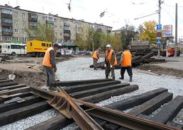 В Невском районе отремонтируют трамвайные пути