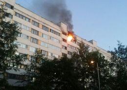 Пять человек спасли из горящей квартиры на Луначарского