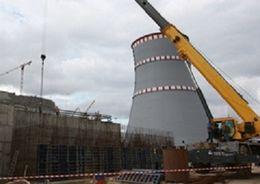 На стройке Ленинградской АЭС-2 завершены работы по бетонированию фундамента здания химической водоочистки