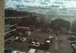 На Лиговском проспекте, 50 тушат пожар
