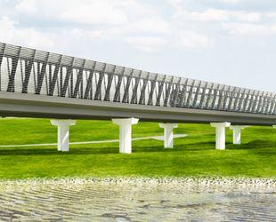 Завершается возведение основных конструкций метромоста через реку Ликова на строящемся участке метро до «Внуково»