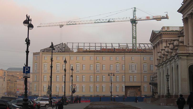 Строительство отеля Lotte в Санкт-Петербурге