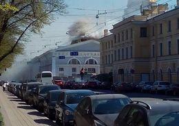 Пожар в Манеже удалось локализовать