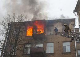 Из горящей квартиры на Брюсовской спасены два человека