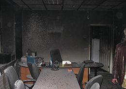 В Приморском районе тушили офис в производственно-складском здании