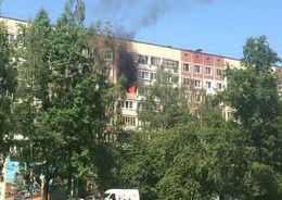 В жилом доме на пр. Ударников – пожар