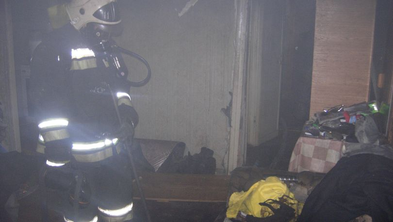 В купчинской квартире выгорела кухня